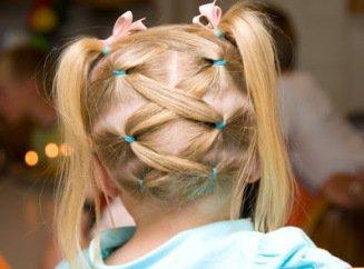Прически для девочки двух лет 2