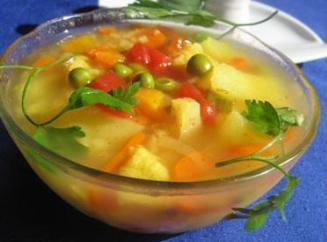Блюдо из картофеля мясо лук морковь
