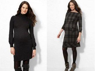 Платья теплые для беременных фото