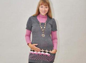 вязание туники для беременных в свободное время