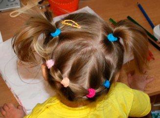 Простые причёски для девочек 2 лет