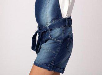 Комбинезон для беременных джинсовый с шортами 75